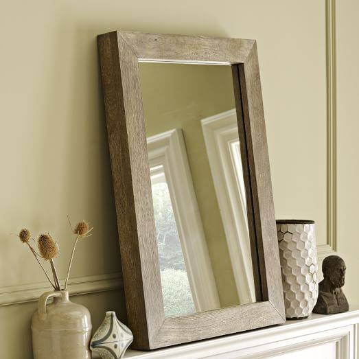 Parsons Wall Mirror – Natural Solid Wood | West Elm For Parsons Wall Mirrors (#13 of 15)