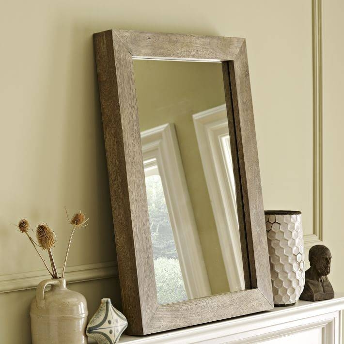 Parsons Wall Mirror – Natural Solid Wood | West Elm Inside Wood Wall Mirrors (#10 of 15)
