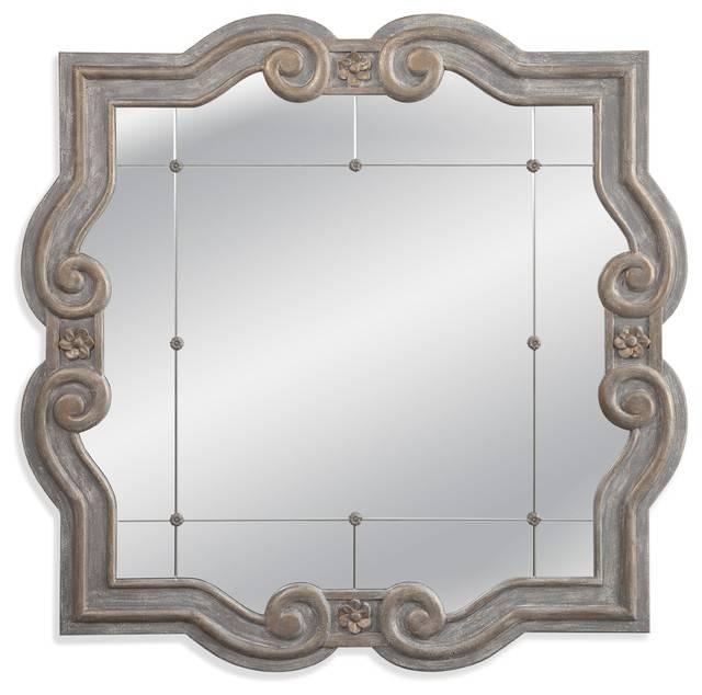 Patterson Wall Mirror – Mediterranean – Wall Mirrors  Bassett Within Bassett Wall Mirrors (#14 of 15)