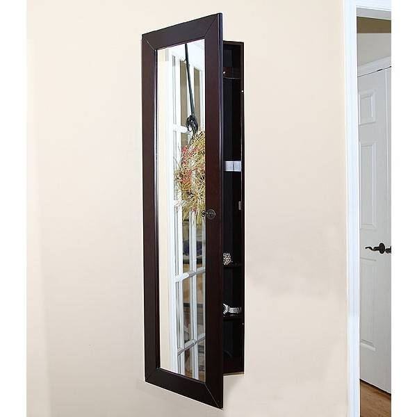 Pebble Beach Wall Mount Jewelry Armoire | American Box With Regard To Jewelry Box Wall Mirrors (#10 of 15)