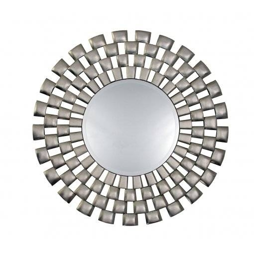 Perfect Ideas Wall Mirror Round Bold Idea Laviana Silver Round Within Silver Round Wall Mirrors (View 6 of 15)