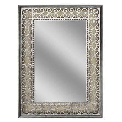 Pewter – Bathroom Mirrors – Bath – The Home Depot For Pewter Wall Mirrors (#9 of 15)