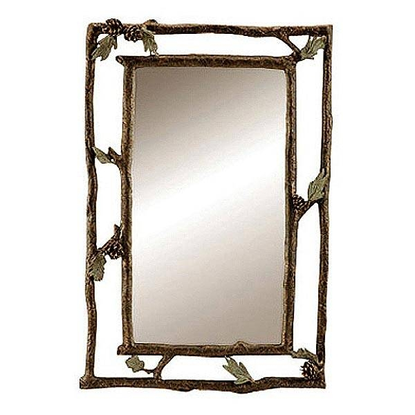 Pine Cone And Branch Wall Mirror: Cabin Place With Regard To Pine Wall Mirrors (#10 of 15)