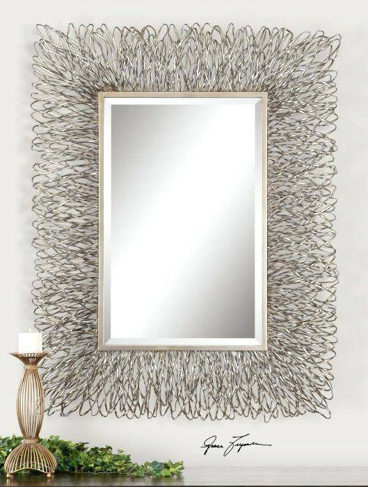 Ponti Fa 33 Rectangular Wall Mirror Rectangular Wall Mirror Silver Intended For Long Rectangular Wall Mirrors (#13 of 15)