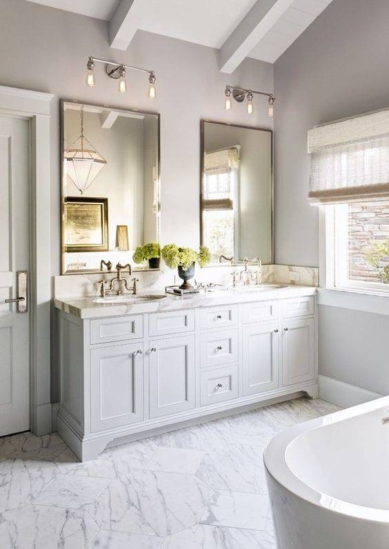 Popular Of Double Vanity Mirrors For Bathroom And Best 20 Bathroom In Double Vanity Bathroom Mirrors (#14 of 15)