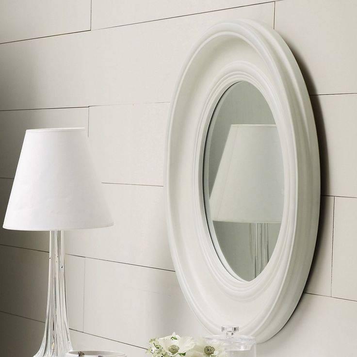 Portland Wall Mirror – White | The White Company | Mirrors Throughout Round White Wall Mirrors (#4 of 15)