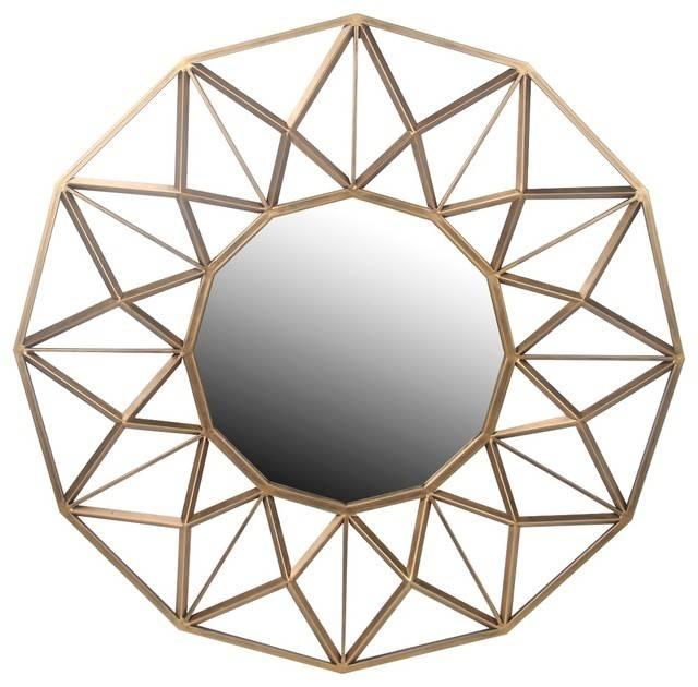 Privilege International Geometric Wall Mirror – Contemporary For Geometric Wall Mirrors (#13 of 15)