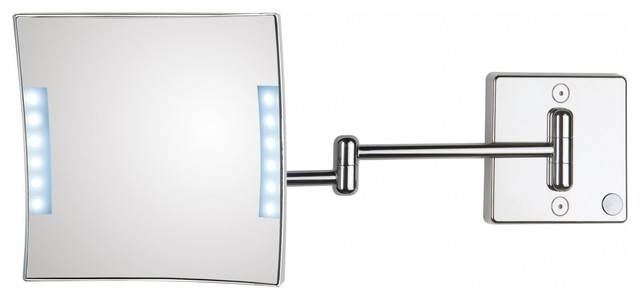 Inspiration about Quadrololed 61 2 Lighted Magnifying Mirror 3X – Contemporary With Magnifying Wall Mirrors For Bathroom (#10 of 15)