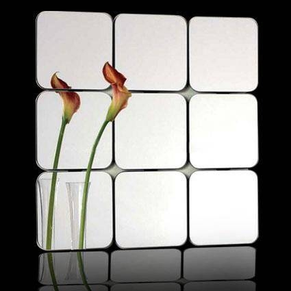 Inspiration about Quality Bathroom Mirror Tiles Stick On The Wall Mirrors – Buy Throughout Stick On Wall Mirrors (#4 of 15)