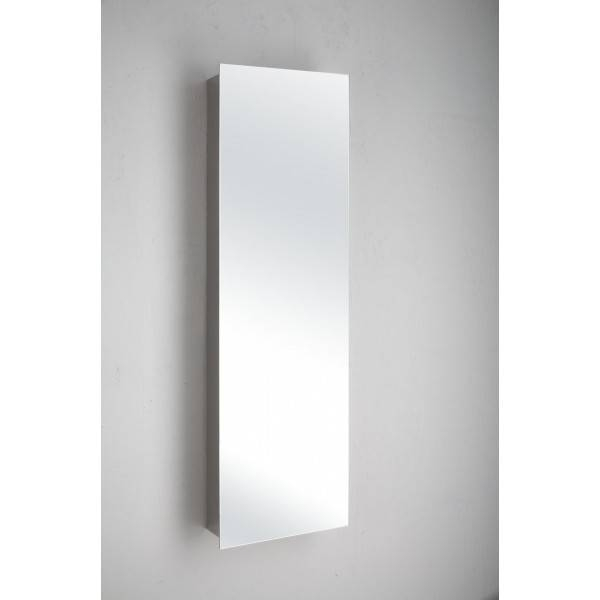 Inspiration about Quality Lille Single Door Tall Mirror Bathroom Cabinet Throughout Tall Narrow Wall Mirrors (#2 of 15)
