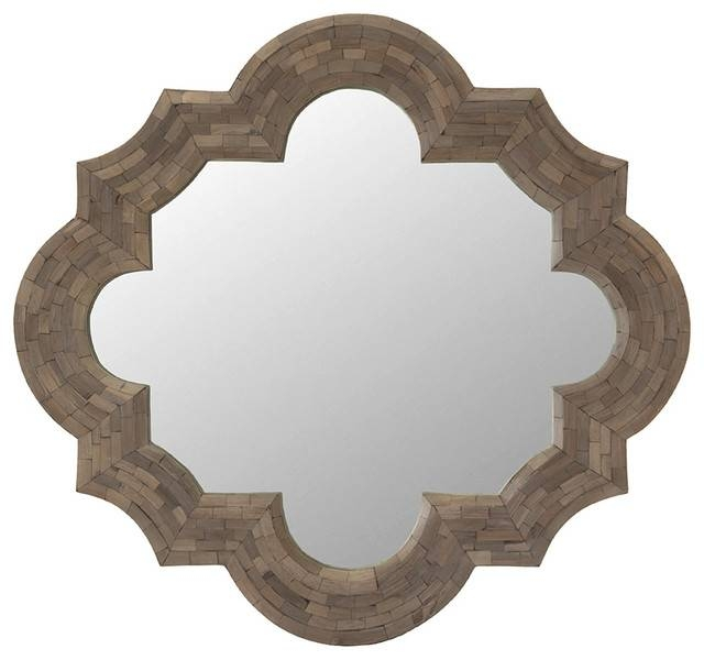 Inspiration about Quatrefoil Ash Wood Wall Mirror – Mediterranean – Wall Mirrors For Quatrefoil Wall Mirrors (#9 of 15)