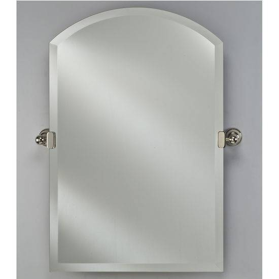 """Inspiration about Radiance Collection 16'' W To 24"""" W Arch Top Frameless 1"""" Beveled Regarding Tilting Wall Mirrors (#9 of 15)"""