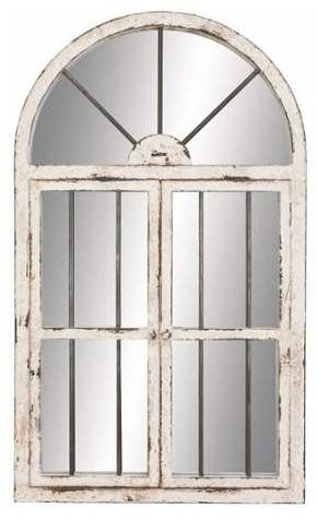 "Rapunzel Arched Window Wall Mirror, 25""x42"" – Farmhouse – Wall With Regard To Window Wall Mirrors (#13 of 15)"