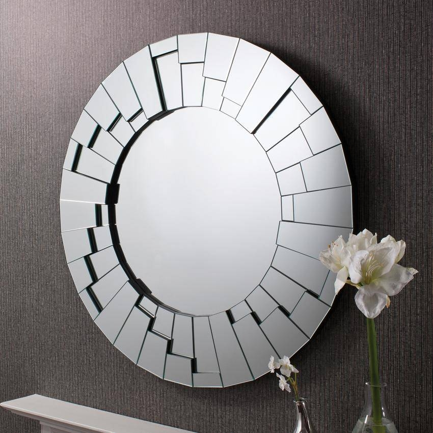 Raundin Round Frameless Faceted Wall Mirror – £ (#15 of 15)