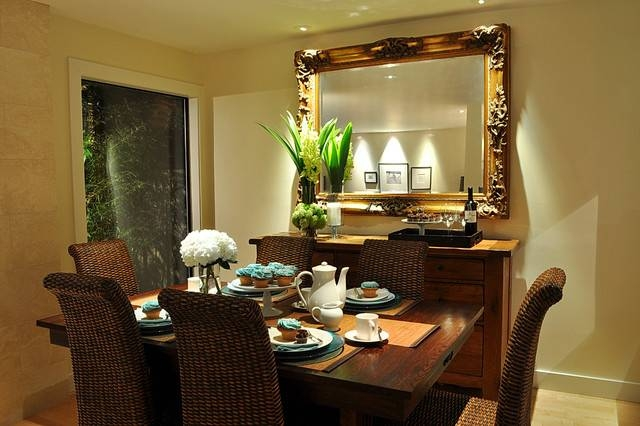 Inspiration about Raveninside Interior Design – Contemporary – Dining Room With Regard To Dining Mirrors (#5 of 15)