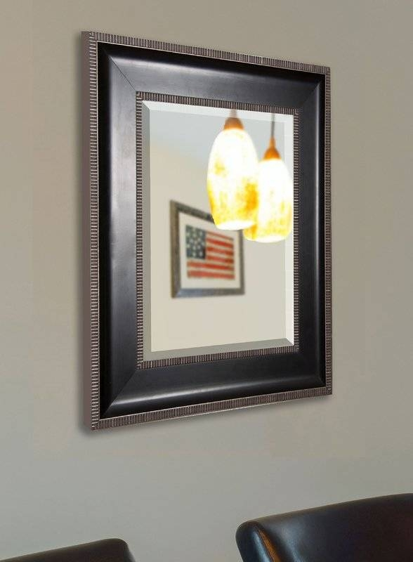 Rayne Mirrors Black With Silver Cage Trim Wall Mirror & Reviews With Black And Silver Wall Mirrors (View 12 of 15)