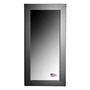Inspiration about Rayne Mirrors Jovie Jane R035T Black Satin Wide Tall Wall Mirror With Tall Wall Mirrors (#8 of 15)
