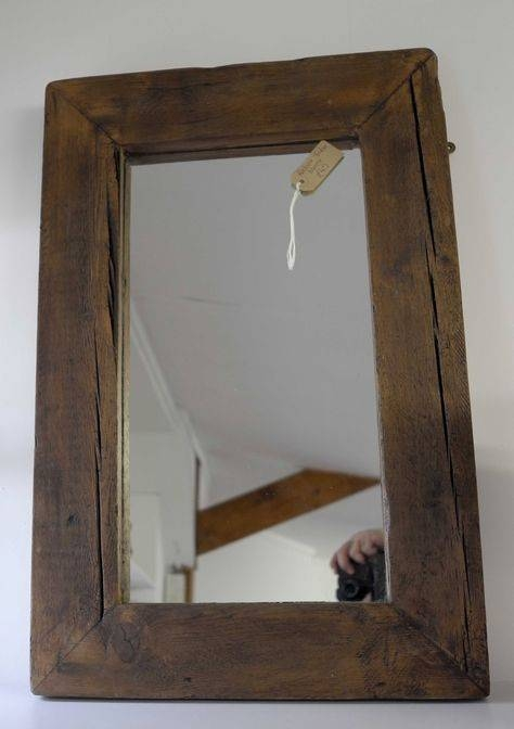Re Cycled Timber Frame Mirror | Recycled Timber | Pinterest Pertaining To Timber Mirrors (View 8 of 15)
