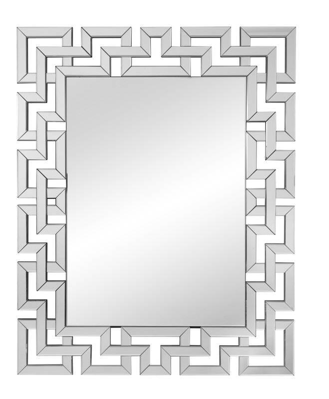Rectangle Ornate Geometric Wall Mirror & Reviews | Allmodern Inside Geometric Wall Mirrors (#14 of 15)