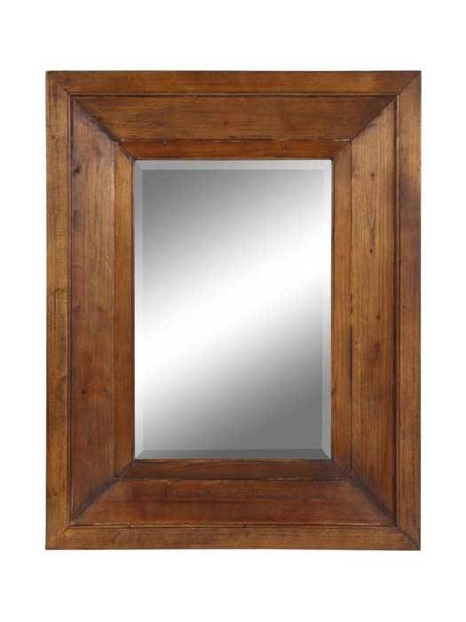 Inspiration about Rectangular Mirror With Thick Wood Frame | Cottage Home® Regarding Wooden Framed Wall Mirrors (#1 of 15)