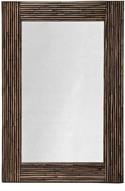 Inspiration about Rectangular Rattan Wall Mirror, Black Stain – Tropical – Wall Throughout Tropical Wall Mirrors (#4 of 15)