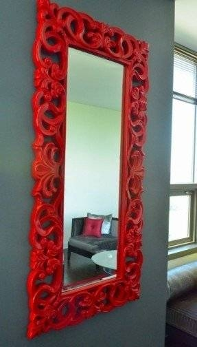 Inspiration about Red Wall Mirror – Foter With Red Framed Wall Mirrors (#1 of 15)