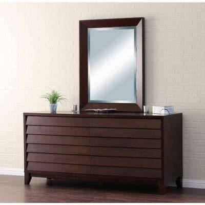 Reddish Brown Wood – Mirrors – Wall Decor – The Home Depot Throughout Wall Mirrors With Drawers (#13 of 15)