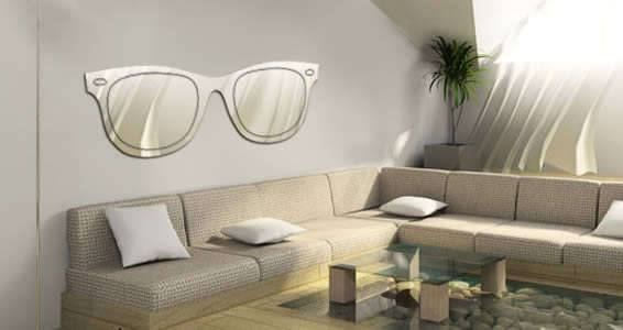Inspiration about Reflective Eyewear Wall Decals : Mirror Stick On With Stick On Wall Mirrors (#5 of 15)