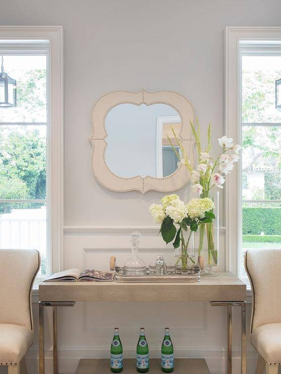 Inspiration about Regina Andrew Ivory Grey Shagreen Console Table – Transitional Regarding Ivory Wall Mirrors (#9 of 15)