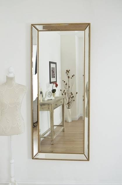 Popular Photo of Extra Large Bevelled Edge Wall Mirrors