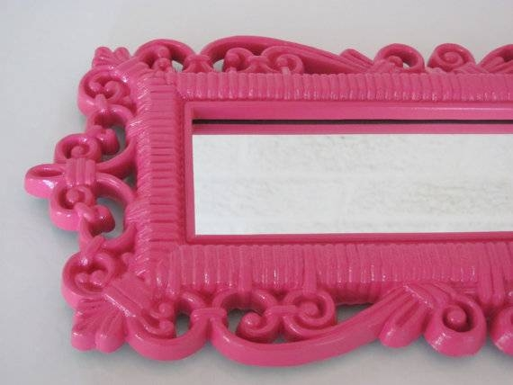 Inspiration about Remarkable Ideas Pink Wall Mirror Sumptuous Design Hot Pink Wall With Regard To Girls Pink Wall Mirrors (#11 of 15)