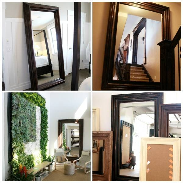Remodelaholic | Build A Large Wall Frame For A Chalkboard Or Mirror Inside Wall Mirror With Mirror Frame (#12 of 15)