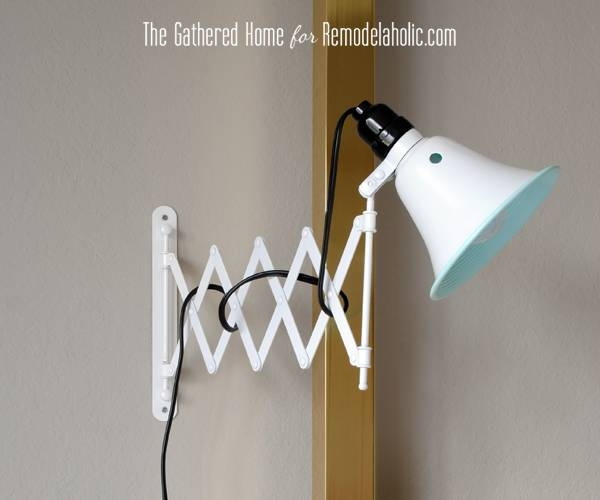 Inspiration about Remodelaholic | Diy Accordion Wall Lamps From $5 Ikea Mirrors Inside Accordion Wall Mirrors (#5 of 15)