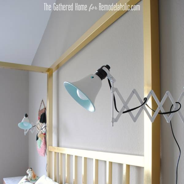 Inspiration about Remodelaholic | Diy Accordion Wall Lamps From $5 Ikea Mirrors With Accordion Wall Mirrors (#7 of 15)