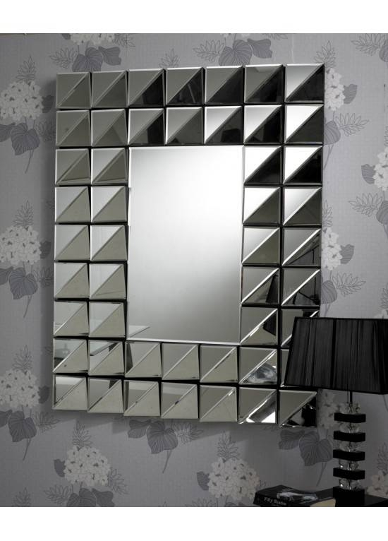 Inspiration about Retro Multi Faceted Bevelled Glass Angled Wall Mirror In Angled Wall Mirrors (#10 of 15)