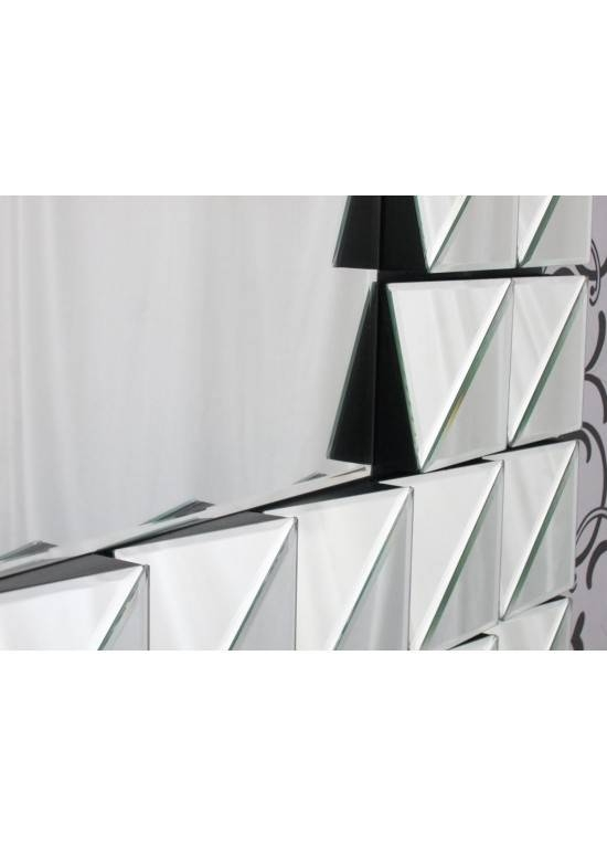 Inspiration about Retro Multi Faceted Bevelled Glass Angled Wall Mirror Regarding Angled Wall Mirrors (#11 of 15)