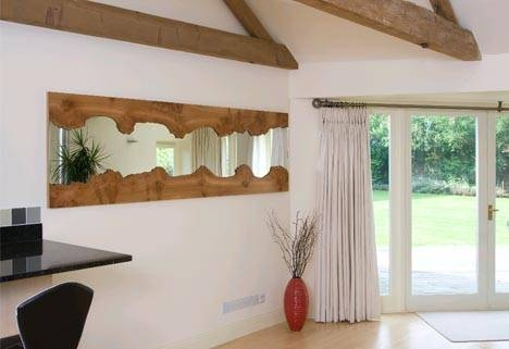 Inspiration about Rough Reflection: Natural Edge Wood Framed Wall Mirrors Regarding Reflection Wall Mirrors (#11 of 15)