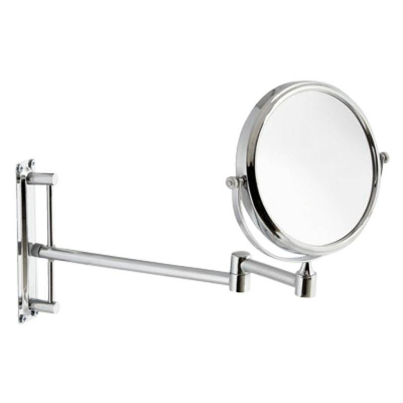 Round 150Mm 3 X Magnifying Extending Wall Mirror Intended For Extending Wall Mirrors (#13 of 15)