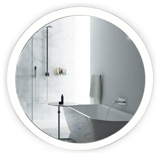 "Round 27"" Led Lighted Bathroom Mirror With Defogger Wall Mounted With Led Lighted Mirrors (#11 of 15)"