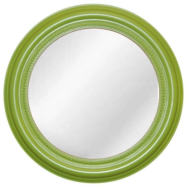 Inspiration about Round Beaded Mirror, Luau Green – Transitional – Wall Mirrors – With Green Wall Mirrors (#9 of 15)