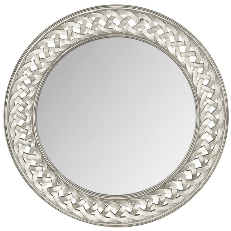 Inspiration about Round Braided Chain Wall Mirror & Reviews | Birch Lane Regarding Round Silver Wall Mirrors (#4 of 15)
