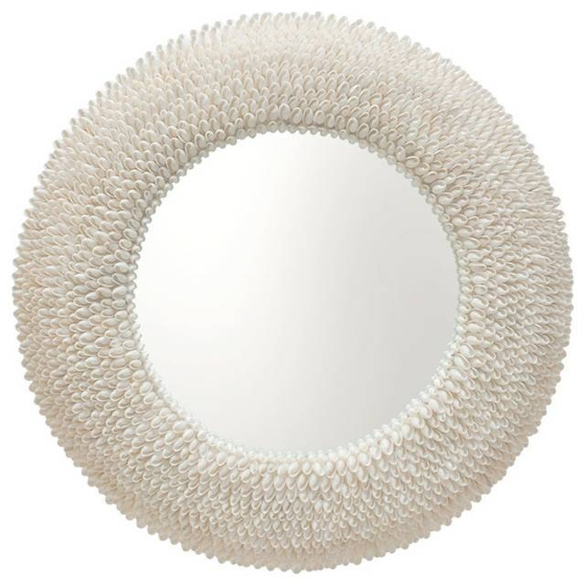 Inspiration about Round Bubble Seashell Wall Mirror – Beach Style – Wall Mirrors Pertaining To Seashell Wall Mirrors (#3 of 15)