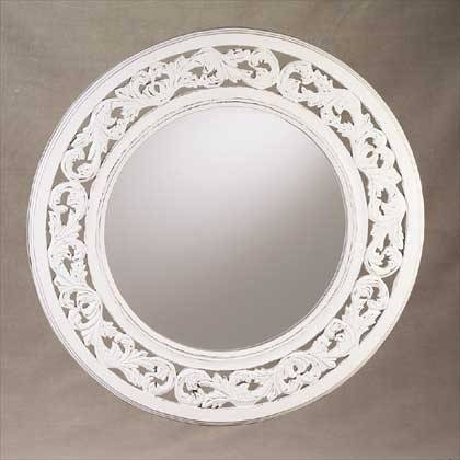 Inspiration about Round Distressed White Wall Mirror – Gift Ideas With Regard To Round White Wall Mirrors (#7 of 15)