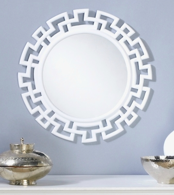 Round Greek Key Mirror – Look 4 Less And Steals And Deals (#9 of 15)
