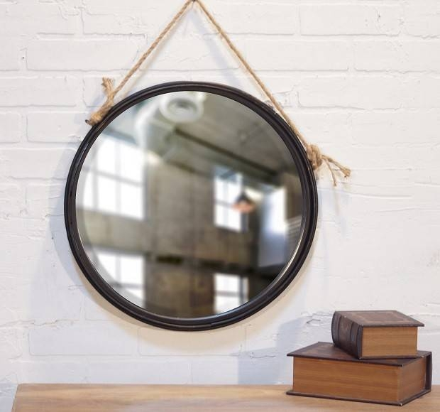 Inspiration about Round Hanging Wall Mirror – Choose The Elegant Decoration With Regarding Hanging Wall Mirrors (#4 of 15)