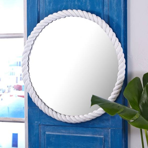 Inspiration about Round Rope Wall Mirror – Look 4 Less And Steals And Deals. With Round White Wall Mirrors (#9 of 15)