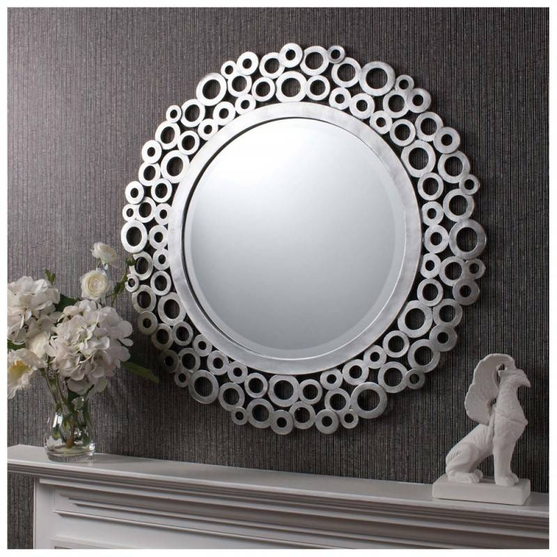 15 photo of round silver wall mirrors. Black Bedroom Furniture Sets. Home Design Ideas