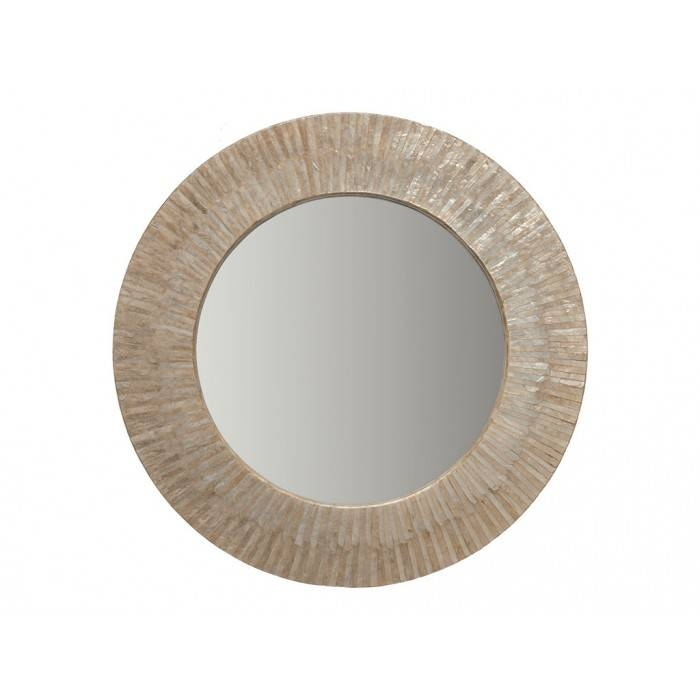 "Inspiration about Round Sun Ray Mirror 30"" – Capiz Seashell Inside Sun Ray Wall Mirrors (#4 of 15)"