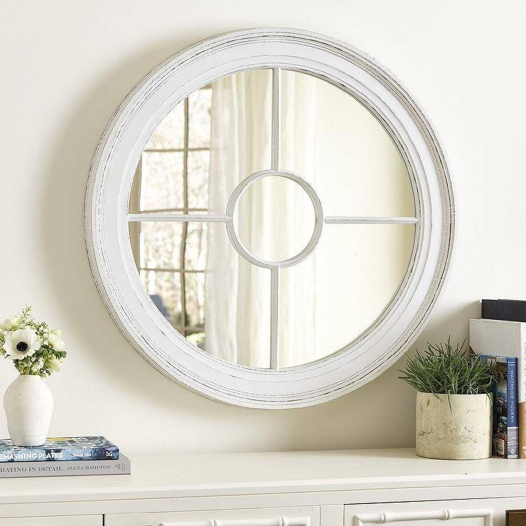 Inspiration about Round White Wood Wall Mirror Pertaining To Round White Wall Mirrors (#13 of 15)