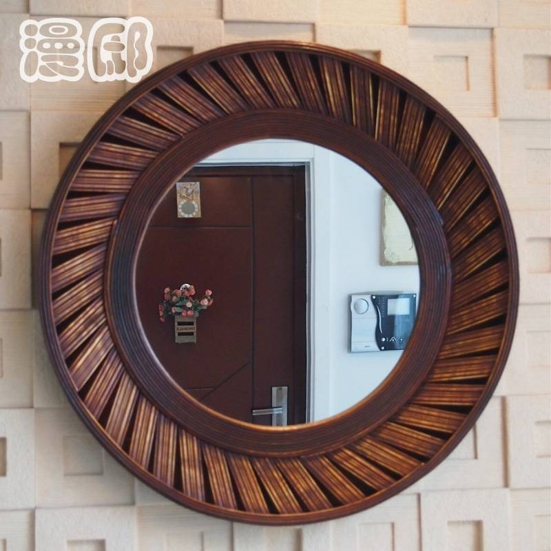 Round Wood Framed Mirror – Round Designs With Regard To Round Wood Framed Mirrors (#7 of 15)